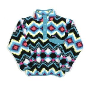 Patagona T Snap Kids Geometric Print Fleece